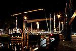 A Drawbridge at night in Delft, Holland
