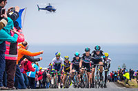 Picture by Alex Whitehead/SWpix.com - 01/05/2016 - Cycling - Tour de Yorkshire, Stage 3: Middlesbrough to Scarborough - Yorkshire, England - The break climb up Cote de Robin Hood's Bay.