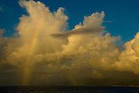 A rainbow off the coast of St. Lucia in the Caribbean Sea.