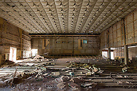 The looted seating area in the Palace of Culture theatre.<br />