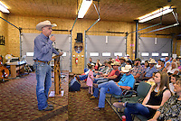 NWA Democrat-Gazette/BEN GOFF &bull; @NWABENGOFF<br /> Pastor Tim Wallace delivers his sermon on Sunday June 21, 2015 during service at Corner Post Cowboy Church East of Siloam Springs.