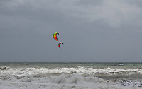 Not everyone is disappointed when the wind blows and the seas are rough at Estepona! A couple of windsurfers take advantange of the &ldquo;bad&rdquo; weather. April, 2017,201704203430<br />