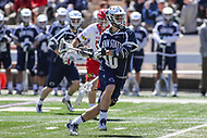 College Park, MD - April 8, 2017: Penn State Nittany Lions Nick Aponte (10) attempts a shot during game between Penn State and Maryland at  Capital One Field at Maryland Stadium in College Park, MD.  (Photo by Elliott Brown/Media Images International)