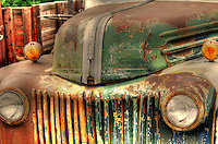 Grill on old rusty Ford truck - New Mexico