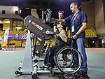 MONTREAL, QC - APRIL 29:  A participant takes part in a hand cycle exercise during the 2017 Montreal Paralympian Search at Complexe sportif Claude-Robillard. Photo: Minas Panagiotakis/Canadian Paralympic Committee