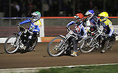 Heat 11 - Joonas Kylmakorpi (red), Nicki Pedersen (green), Edward Kennett, Andreas Messing - Arena Essex Hammers vs Eastbourne Eagles - Sky Sports Elite League 'B' - 04/10/2006 - MANDATORY CREDIT: Gavin Ellis/TGSPHOTO