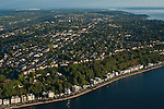 Aerial image of West Seattle and Alki beach Seattle Washington