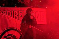 Roma, 10 Novembre 2012.Manifestazione del Movimento Sociale Europeo contro il Governo Monti  la BCE e Equitalia..The movement MSE (European social movement) marches in Rome from Risorgimento square to Cavour square.Militants of MSE protest against the government' s work.