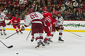 Jacob Olson (Harvard - 26), Yanni Kaldis (Cornell - 8), Ty Pelton-Byce (Harvard - 11) - The Harvard University Crimson defeated the visiting Cornell University Big Red on Saturday, November 5, 2016, at the Bright-Landry Hockey Center in Boston, Massachusetts.