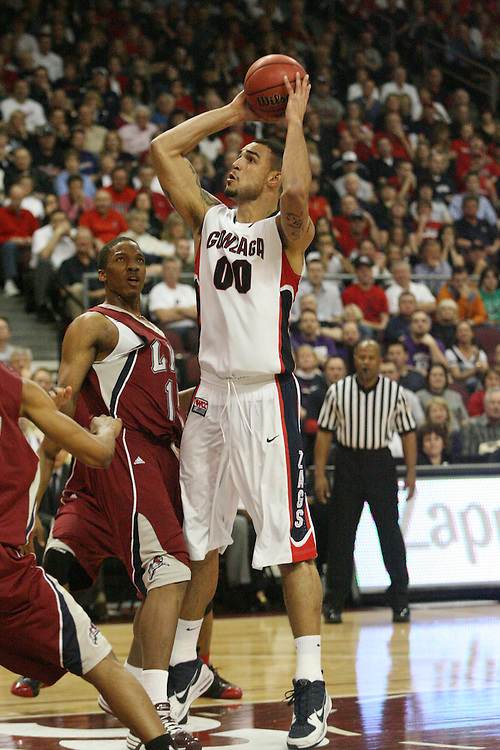 LAS VEGAS, NV - MARCH 7:  Robert Sacre during the Gonzaga Bulldogs 77-62 win over Loyola Marymount in the WCC Basketball Tournament on March 7, 2010 at Orleans Arena in Las Vegas Nevada.