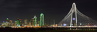 After the sun had disappeared behind the horizon, the lights of downtown Dallas lit up. I was shooting around the Continental Avenue Bridge and was on my way back to the parking area when I looked back and realized I had to capture this view in a panorama.
