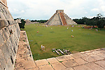 Pyramid of Kukulcan at Chichen Itza, Yucatan, Mexico
