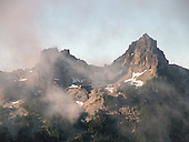 opposite Mt. Rainier, these mountains are<br />