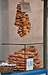 A pretzel vendor in Krakow, Poland