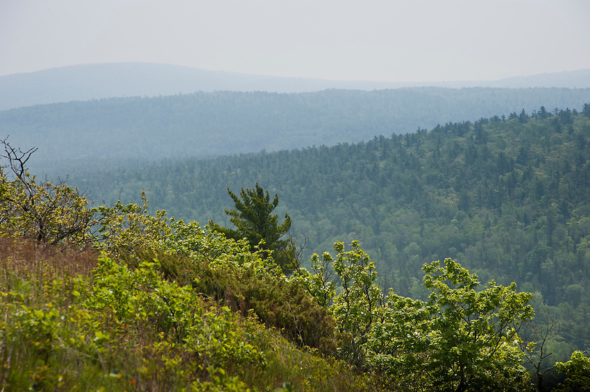 Scenic views of Brockway Mountain in Copper Harbor Michigan Upper Peninsula.