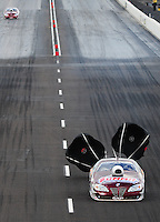Feb. 21, 2010; Chandler, AZ, USA; NHRA pro stock driver Greg Anderson during the Arizona Nationals at Firebird International Raceway. Mandatory Credit: Mark J. Rebilas-