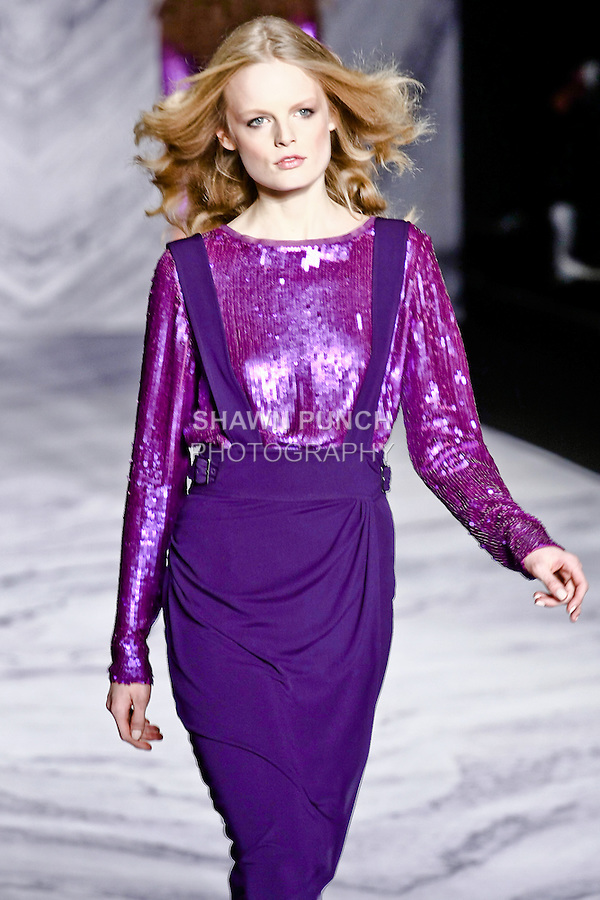 Hanne Gaby Odiele walks the runway in a 3.1 Phillip Lim Fall 2010 outfit, for his fashion show, during Mercedes-Benz Fashion Week Fall 2010.