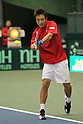 Go Soeda (JPN), FEBRUARY 10, 2012 - Tennis : Davis Cup 2012, World Group First Round match Japan 1-1 Croatia at Bourbon Beansdome, Hyogo, Japan. (Photo by Akihiro Sugimoto/AFLO SPORT) [1080]