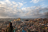 An overview of dandora dump site in Nairobi, Kenya.