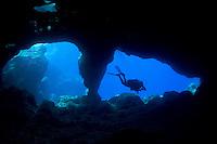 Diver <br /> Las Cueves, La Queva, <br /> Desecheo Island, Puerto Rico