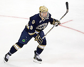 Anders Lee (Notre Dame - 9) - The University of Notre Dame Fighting Irish defeated the Merrimack College Warriors 4-3 in overtime in their NCAA Northeast Regional Semi-Final on Saturday, March 26, 2011, at Verizon Wireless Arena in Manchester, New Hampshire.