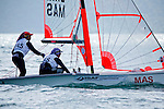 Malaysia29erWomenCrewMASNS3Natasha NabilaSawal<br /> Malaysia29erWomenHelmMASSN1Nur Adriana AdlynaMohd Nazri<br /> Day1, 2015 Youth Sailing World Championships,<br /> Langkawi, Malaysia