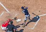 23 August 2015: Milwaukee Brewers infielder Elian Herrera in action against the Washington Nationals at Nationals Park in Washington, DC. The Nationals defeated the Brewers 9-5 in the third game of their 3-game weekend series. Mandatory Credit: Ed Wolfstein Photo *** RAW (NEF) Image File Available ***
