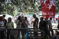 Protesters gather at the central point camping in Gazi park of Taksim Square during a 24/7 masive rally against the turkish government in Istanbul, Turkey.