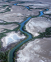 Aerial view of Coastal Floodplains Northern Western Australia Kimberly region. Kimberley is one of Australia's hidden treasures with immense and complex landscapes