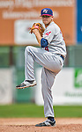 9 July 2015: Mahoning Valley Scrappers pitcher Casey Shane on the mound against the Vermont Lake Monsters at Centennial Field in Burlington, Vermont. The Scrappers defeated the Lake Monsters 8-4 in 12 innings of NY Penn League play. Mandatory Credit: Ed Wolfstein Photo *** RAW Image File Available ****