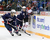 Ryan Bourque (USA - 17), Jordan Schroeder (USA - 19), Ryan Ellis (Canada - 6) - Team Canada defeated Team USA 5-4 (SO) on Thursday, December 31, 2009, at the Credit Union Centre in Saskatoon, Saskatchewan, during the 2010 World Juniors tournament.