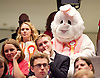 Mayor of London and London Assembly results announcement at City Hall, London, Great Britain <br /> 6th May 2016 <br /> <br /> <br /> Animal Welfare Party activist dressed as a rabbit <br /> <br /> <br /> <br /> Photograph by Elliott Franks <br /> Image licensed to Elliott Franks Photography Services