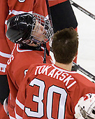 Ryan Ellis (Canada - 8), Dustin Tokarski (Canada - 30) - Canada defeated Kazakhstan 15-0 on Sunday, December 28, 2008, at Scotiabank Place in Kanata (Ottawa), Ontario, during the 2009 World Junior Championship.