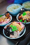 Penang's famous Teo Chew Chendol seen in the Chendol cart in Georgetown, Penang, Malaysia. Photo: Sanjit Das/Panos