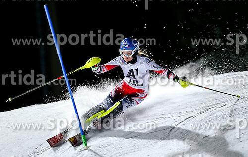 13.01.2015, Hermann Maier Weltcupstrecke, Flachau, AUT, FIS Weltcup Ski Alpin, Flachau, Slalom, Damen, 1. Lauf, im Bild Bernadette Schild (AUT) // Bernadette Schild of Austria in action during 1st run of the ladie's Slalom of the FIS Ski Alpine World Cup at the Hermann Maier Weltcupstrecke in Flachau, Austria on 2015/01/13. EXPA Pictures © 2015, PhotoCredit: EXPA/ Johann Groder