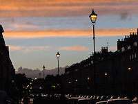 Great Pulteney Street, Bath at sunset