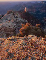 749220206 dawn light filters over the north rim of the grand canyon and shades mount hayden and surrounding canyons with a diffused warm glow