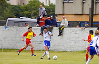 WOMEN FOOTBALL PLAYERS TAKING PART IN THE THE ISLAND GAMES, RAMSEY, ISLES OF MAN.