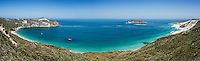 Panoramic view of Cuyler Harbor, San Miguel Island, Channel Islands National Park, California