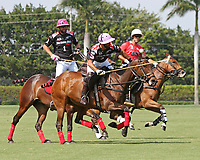 WELLINGTON, FL - MARCH 12:  Facundo Pieres of Orchard Hill (black jersey) takes control of the ball as Orchard Hill defeats Audi 9-8, in the early rounds of the 26 goal USPA Gold Cup at the International Polo Club, Palm Beach on March 12, 2017 in Wellington, Florida. (Photo by Liz Lamont/Eclipse Sportswire/Getty Images)
