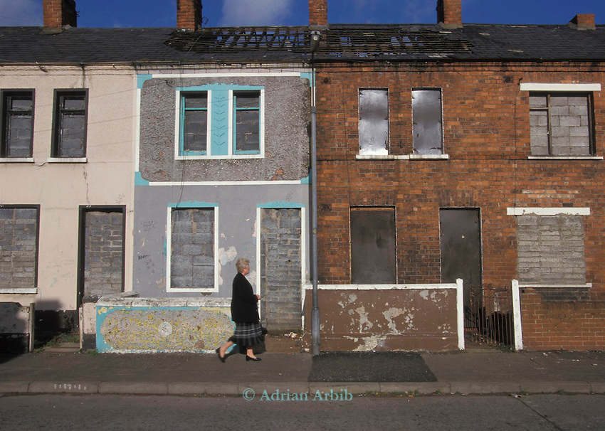 Catholic community housing in Belfast, Northern Ireland.