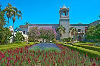 Alcazar Garden, Balboa Park, San Diego, Ca High dynamic range imaging (HDRI or HDR)