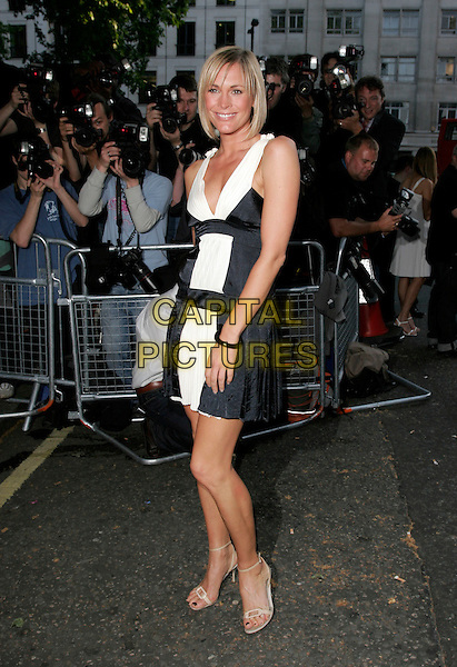 JENNI FALCONER.Glamour magazine's 4th Annual Woman of the Year Awards, arrivals Berkley Square, London, England.. June 5th, 2007 .full length black white dress jenny pleated pleats.CAP/AH.©Adam Houghton/Capital Pictures