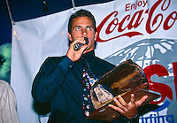 Kelly Slater (USA) won his third World Professional Surfing Title in 1995. He was also 1995 Chemsee Pipeline Masters Champion and was the 1995 Hawaiian Triple Crown Champion. Photo: joliphotos.com