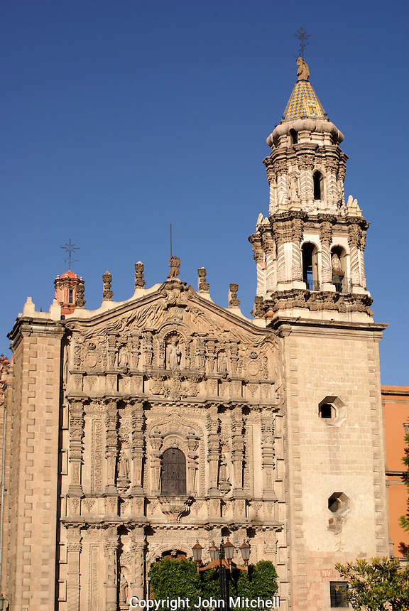 The Templo del Carmen church in the city of San Luis de Potosi, Mexico