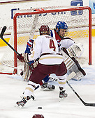 Teddy Doherty (BC - 4), Adam Chapie (UML - 13) - The University of Massachusetts Lowell River Hawks defeated the Boston College Eagles 4-2 (EN) on Tuesday, February 26, 2013, at Kelley Rink in Conte Forum in Chestnut Hill, Massachusetts.