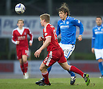 St Johnstone v Aberdeen.....07.12.13    SPFL<br /> Murray Davidson and Barry Robson<br /> Picture by Graeme Hart.<br /> Copyright Perthshire Picture Agency<br /> Tel: 01738 623350  Mobile: 07990 594431