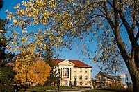 Morrill Hall and the Davis Center, Fall UVM Campus
