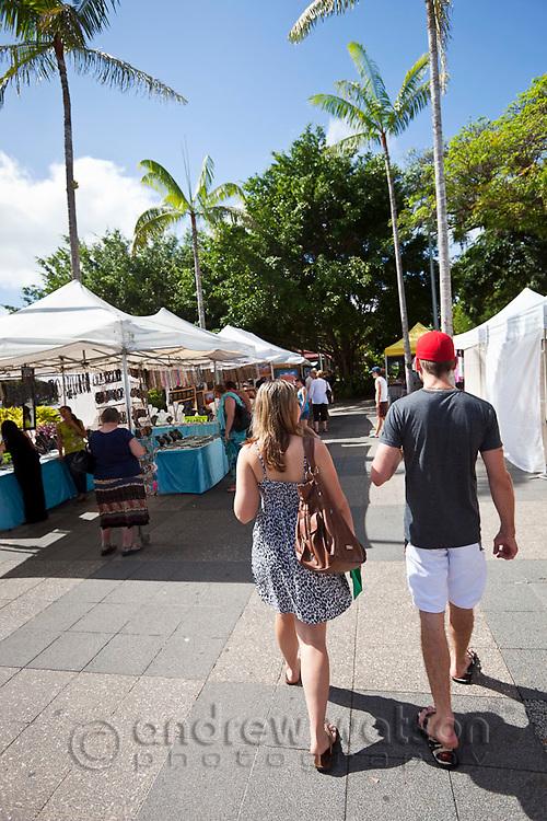 The Esplanade Markets.  Cairns, Queensland, Australia