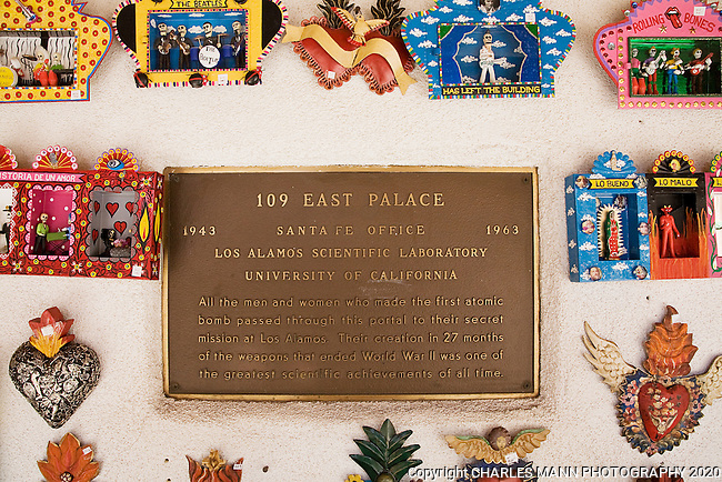 109 East Palace Avenue is a famous address in the history of the Manhatan Project that produced the first atomic bomb in World War Two.